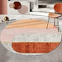 ラグ カーペット 円形 ラグマット 180cm ホットカーペット カラー 絵柄 丸い マット マイクロファイバー 絨毯 ブランケット チェアマット 折り畳み 滑り止め付き 床暖房対応 保温性に優れ 柔らかい 幾何学柄 居間 寝室用