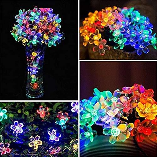 Z.L.FFLZ Luces Leds Flor del melocotón Flor Solar de la lámpara de...