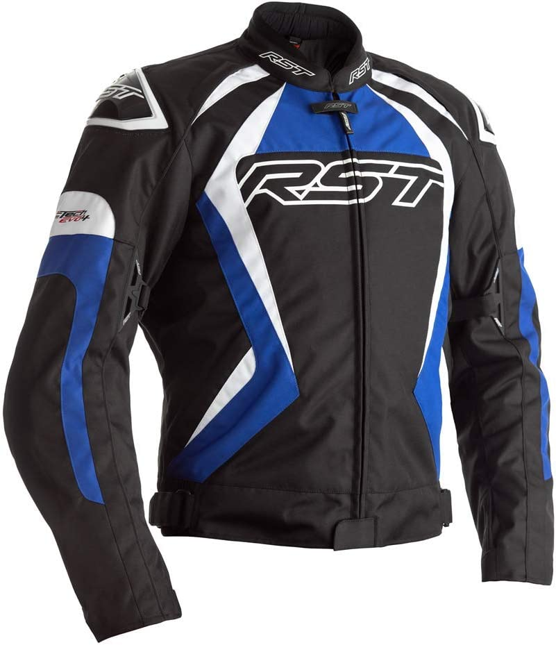Black White RST Tractech Evo 4 CE Mens Textile Jacket