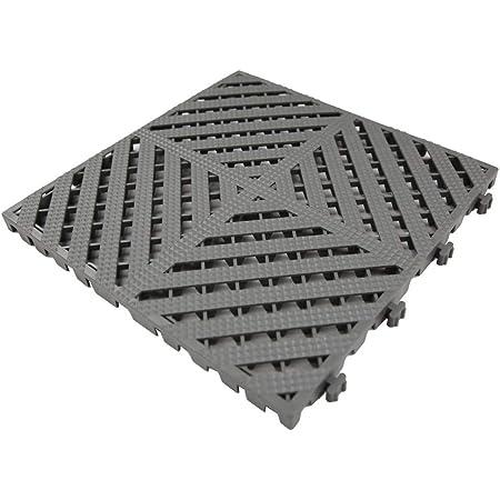 Single Tile Gray Color Modular Interlocking Multi-Use Deck Tile Safety Floor Matting