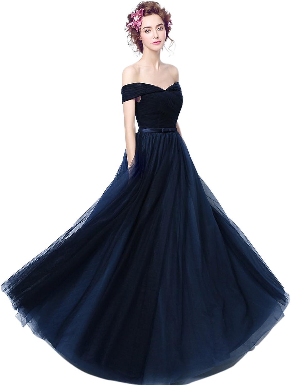 Epinkbridal V Neck Off Shoulder A Line Prom Dress Evening Gowns Women Bridesmaid Dress