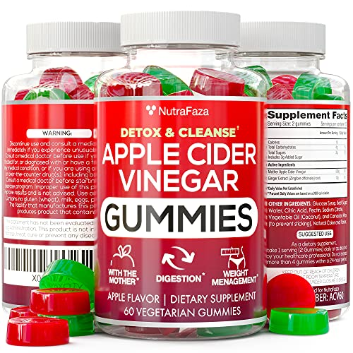 Vegan Apple Cider Vinegar Gummies - Formulated for Weight Loss, Energy Boost & Gut Health - Supports Digestion, Detox & Cleansing - ACV Gummy Alternative to Capsules - Non-GMO | Gluten Free