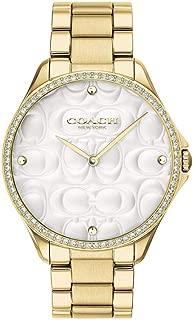 Coach Women's Modern Sport Gold-Tone Steel Bracelet & Case Quartz Silver-Tone Dial Analog Watch 14503067