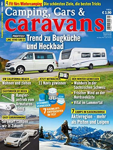 """Camping, Cars & Caravans 1/2021 \""""Trend zu Bugküche und Heckbad\"""""""