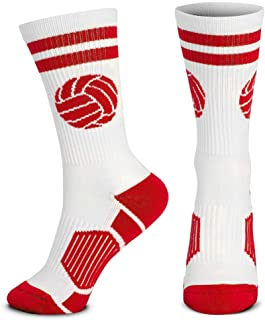 Volleyball Woven Mid-Calf Socks | Classic Ball | Multiple Colors