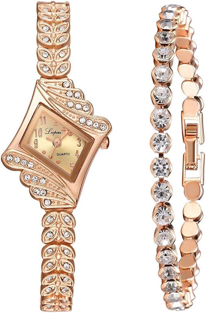 Bravetoshop Fashion Women Crystal Quartz Omaha Mall Bangle wi Rhombus Watch Max 46% OFF