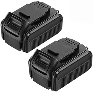2 Pack 20 Volt 6.0Ah Max Lithium Replacement for Dewalt 20V Battery XRP DCB200 DCB201 DCB203 DCB204 DCB205 DCB206 DCB207 20V DCD/DCF/DCG/DCS Series Tools