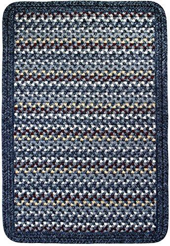 Thorndike Mills Vineyard Haven Braided Rug 10' x 10' Square South Beach w/Blue Heather Border