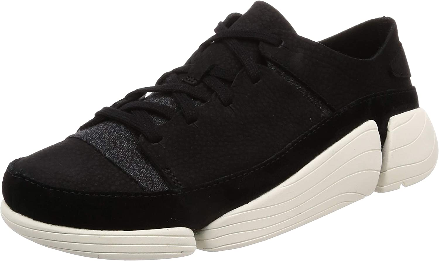Clarks Originals Damen Trigenic Evo Leather Textile schwarz Trainer 39 EU