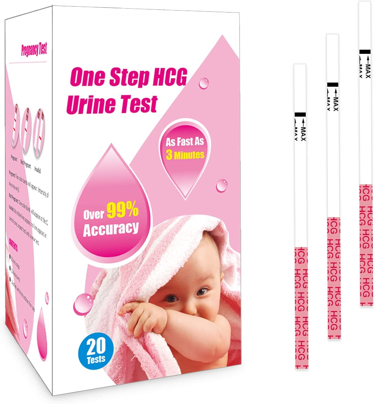 Pregnancy Test Strips High Sensitive Home Self Checking Strips (20 Tests)