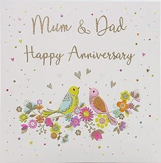 Anniversary Card Anniversary Mum & Dad - 138 mm sq inches - Zizi Cards