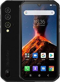 Blackview BV9900, 8GB+256GB IP68/IP69K Waterproof Dustproof Shockproof, Triple Rear Cameras, 4380mAh Battery, Side-mounted Fingerprint ID, 5.84 inches Android 9 Pie, NFC, Wireless Charge, 4G (Black)