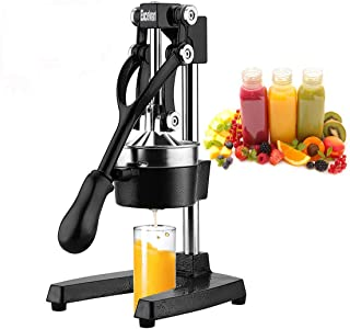 Excelvan Hand Press Citrus Commercial Juicer Pro Manual Fruit Fresh Squeezer with Stainless Steel Funnel Black