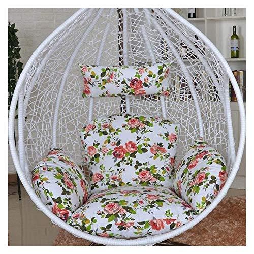 Cojines al aire libre para Sillas de Patio Columpio que cuelga de ratón amortiguador de la silla silla colgante de huevo Cojín for jardín al aire libre Patio Colgando Tejido de mimbre Muebles Silla de