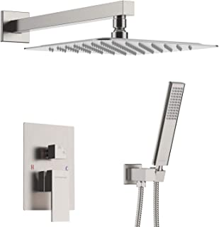 EMBATHER Shower System -Brushed Nickel Shower Faucet Sets with 10
