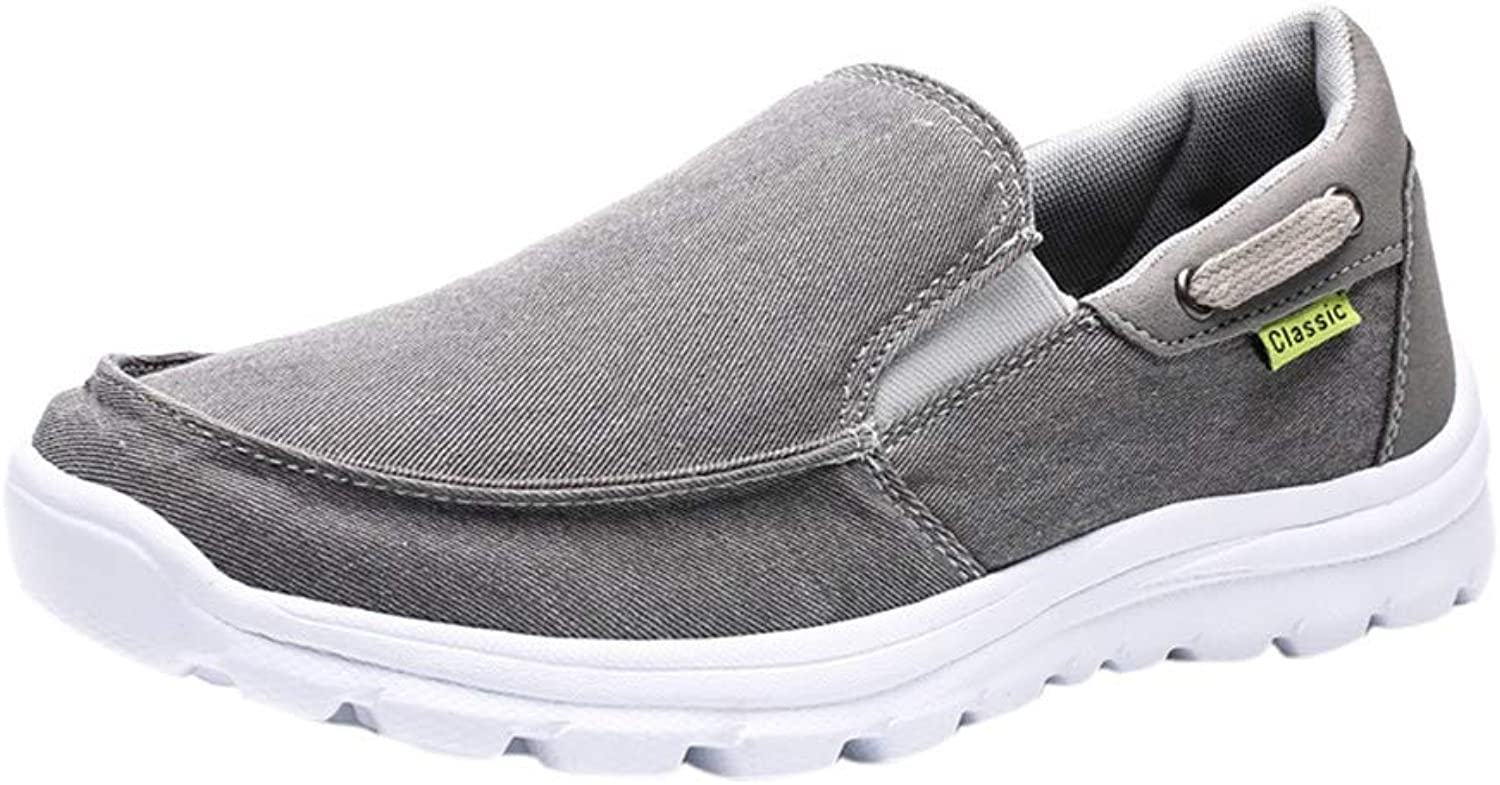 Shinericed Sports shoes Mens, Men's Vintage Fitness Round Toe Soft Sneakers