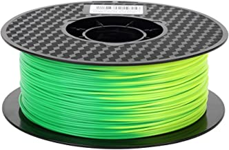 Color Change PLA Filament Green to Yellow 3D Printer Changing Filament 1.75 mm 1KG Spool 2.2 LBS Printing PLA Material Color Changing with Temperature