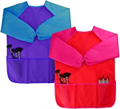 Dreampark 2 Pack Children Art Smock Kids Art Aprons with Waterproof Long Sleeve 3 Roomy..