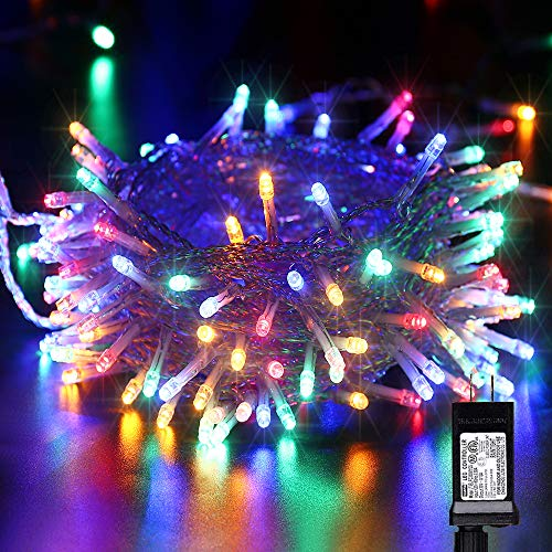 Led Christmas Lights 75 Feet 200 Led Twinkle Fairy Lights, 8 Modes Christmas String Lights for Home, Party, Xmas Tree Decorations(Multicolor)