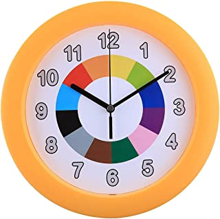 Home Deco 10 inch Children Creative Silent Wall Clock Kids Mute Clocks for Bedroom Wall Decor Modern Design Decorative,Type 3