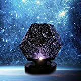 Chagoo Nova Stars Original Home Planetarium Sternenhimmel Projektionslampe USB Wiederaufladbar Projektor Nachtlicht Konstellation Galaxy 3D Lampe für Kinderzimmer Zuhause (3 Farbmodi, USB)