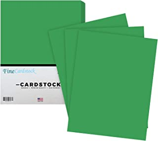 Premium Color Card Stock Paper | 50 Per Pack | Superior Thick 65-lb Cardstock, Perfect for School Supplies, Holiday Crafting, Arts and Crafts | Acid & Lignin Free | Gamma Green | 8.5 x 11