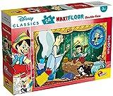 Lisciani Puzzle Maxi Floor para niños de 24 piezas 2 en 1, Doble Cara con reverso para colorear - Disney Pinocchio 86672