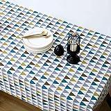 DQGZYF Triángulo geométrico Paño para el hogar Mantel artístico Algodón y Lino Sala de Estar Estudio Mesa de Centro Cojín Mantel 140 * 200cm