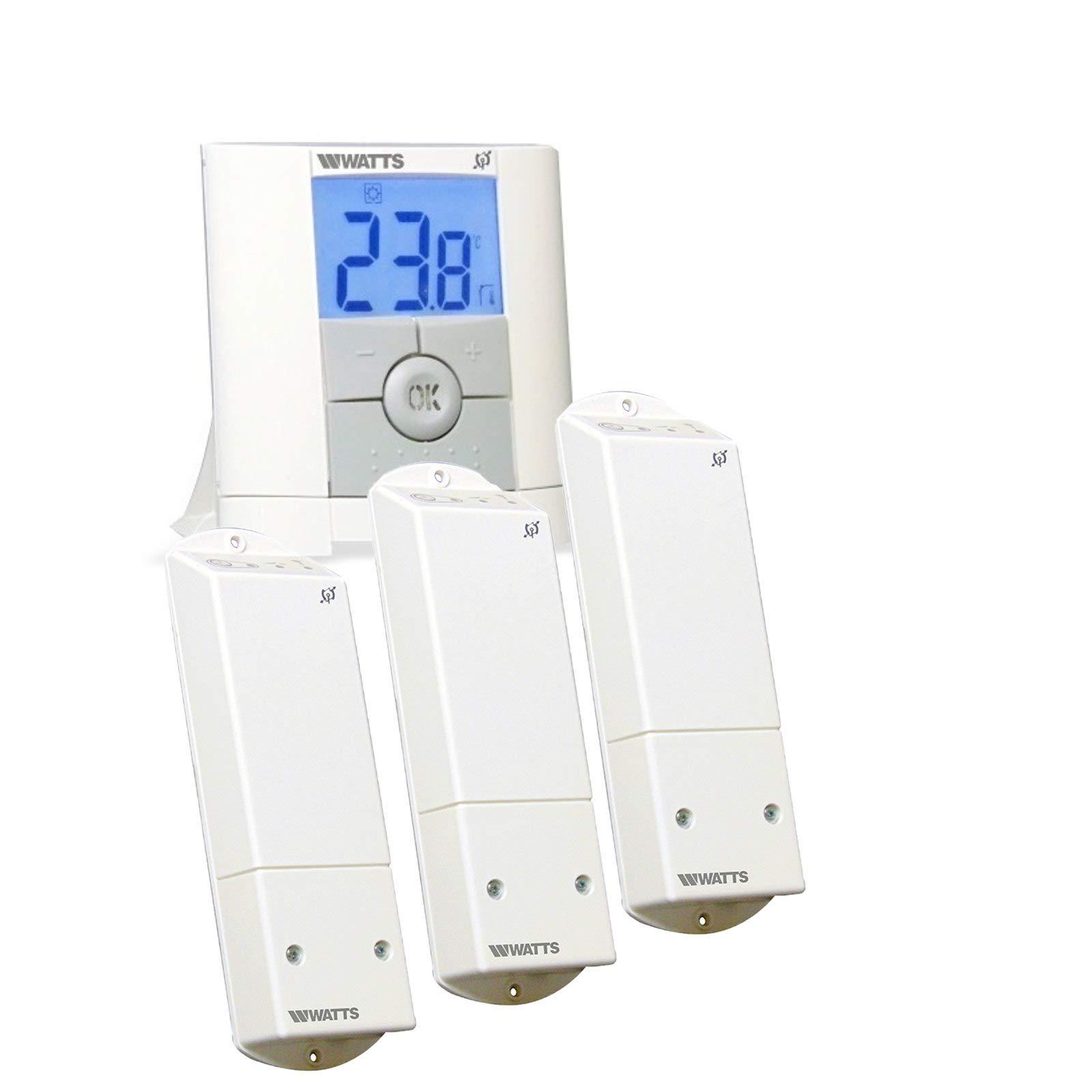 Mi-Heat Watts Vision - Termostato digital inalámbrico con receptor ...