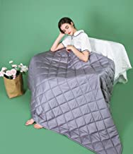 ZZZhen Cooling Weighted Blanket by Bamboo - Noticeable Cold Hand Feel for Summer - Utral-Soft and Breathability 100% Bamboo Face (Grey, 48''72''- 15LB)
