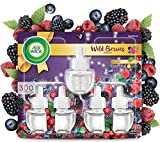 Air Wick Plug in Scented Oil 5 Refills, Wild Berries, Fall scent, Fall spray, (5x0.67oz), Essential Oils, Air Freshener,...
