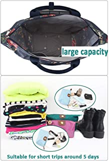 """Ladies Holdall Trolley Bag Handbag Travel Luggage With Wheels Holiday 18"""" (Color : E, Size : L34×W17×H52cm)"""