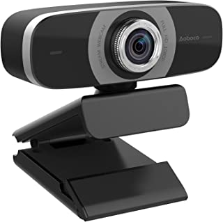 Aoboco Webcam HD 1080p, USB Streaming Cámara con Doble Micrófono Reductor de Ruido para PC, Mac, Windows, portátil, Twitch Xbox One, Skype OBS Xsplit