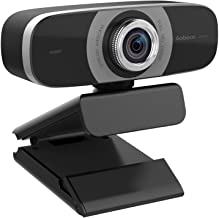 HD Webcam 1080P with Microphones, PC Laptop Desktop USB Webcams, Pro Streaming Computer Camera for Video Calling, Recording, Conferencing, Gaming, Wide Angle Web Camera with Rotatation Base
