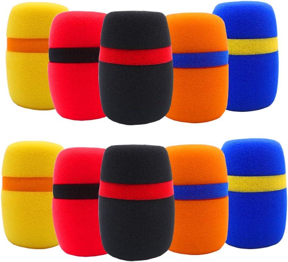BAISDY supreme 10Pcs Max 69% OFF Foam Mic Cover Windscree Microphone Thick