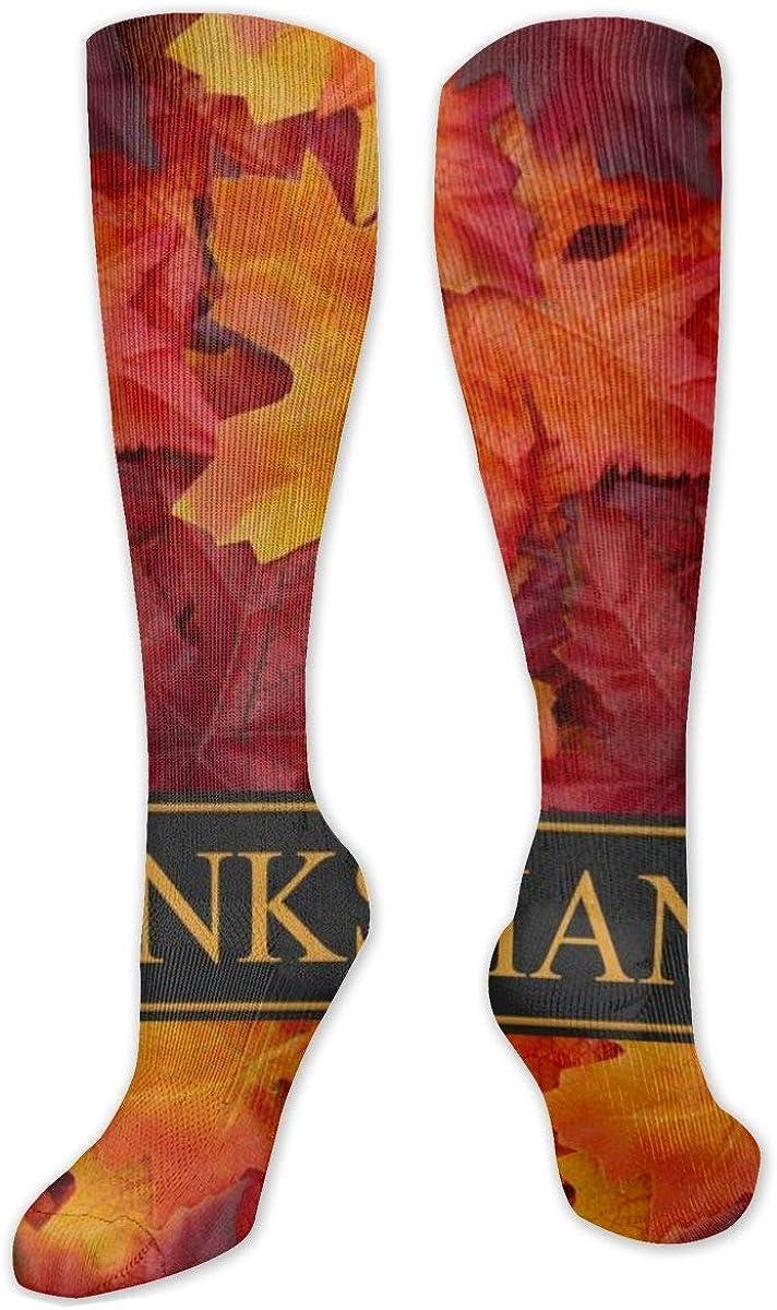Thanksgiving Knee High Socks Leg Warmer Dresses Long Boot Stockings For Womens Cosplay Daily Wear