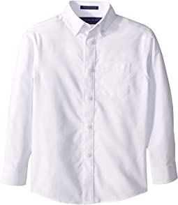 Long Sleeve Button Down Solid Oxford Shirt **Magnetic**