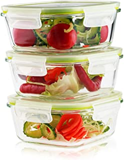 Best square glass storage containers with lids Reviews
