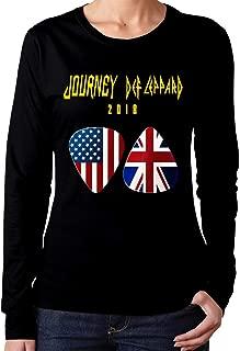 Woman Journey Def Leppard 2018 Classic Long Sleeves Tee Shirt Black