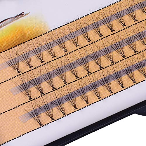 10D pestañas Natrual Pelo de visón pestañas de Seda Extensiones de pestañas Falsas pestañas 0.07 Espesor (Color : C, Talla : 10mm)