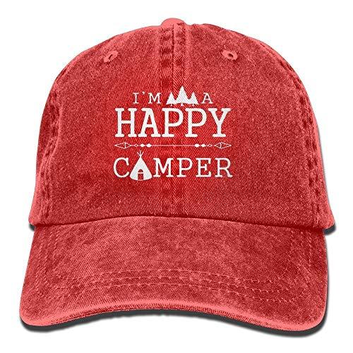 Soy un Feliz Camper Gorra de béisbol Hombres y Mujeres Verano Sombrero para el Sol Viaje Protector Solar Gorra Pesca al Aire Libre