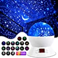 MOKOQI Star Projector Night Lights for Kids with Timer, Gifts for 1-14 Year Old Girl and Boy, Room Lights for Kids Glow in The Dark Stars and Moon can Make Child Sleep Peacefully and Best Gift-White