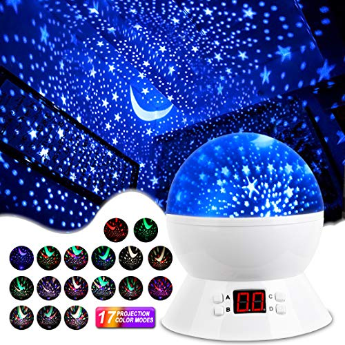 MOKOQI Star Projector Night Lights for Kids with Timer, Gifts for 1-14 Year Old...