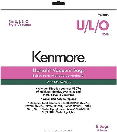 Amazon.com - Kenmore 50105 8 Pack Upright Vacuum Bags For U ...