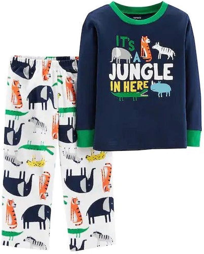 Carter's 2-Piece Jungle Snug Fit Cotton & Fleece PJs (12 Months)