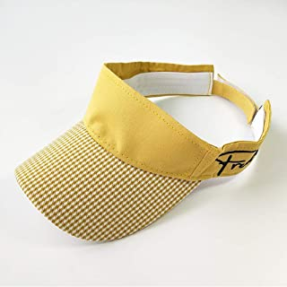 Asdfnfa Sun Hat, Child Straw Hat, Summer Sun Protection, Empty Top Hat (Color : Yellow)