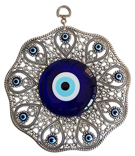 Erbulus Turkish Glass Blue Evil Eye Wall Hanging...