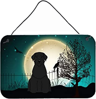 "Caroline's Treasures BB2256DS812 Halloween Scary Giant Schnauzer Wall or Door Hanging Prints, 8"" x 12"", Multicolor"