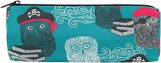 WYXM Pencil Cases for Teenage, Cute Cartoon Owls Pirates Buccaneer Vintage Pen Case Pencil Bag Pouch for School Office, Co...