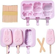 Miystn Ice Lolly Maker, Popsicle Molds, Ice Lolly Molds met 2 deksels en 50 sticks, Creative DIY Ice Cream Dessert Popsicl...